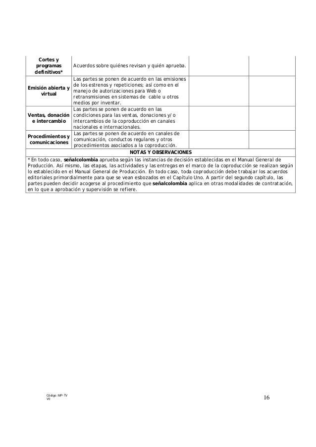 manual general de produccion