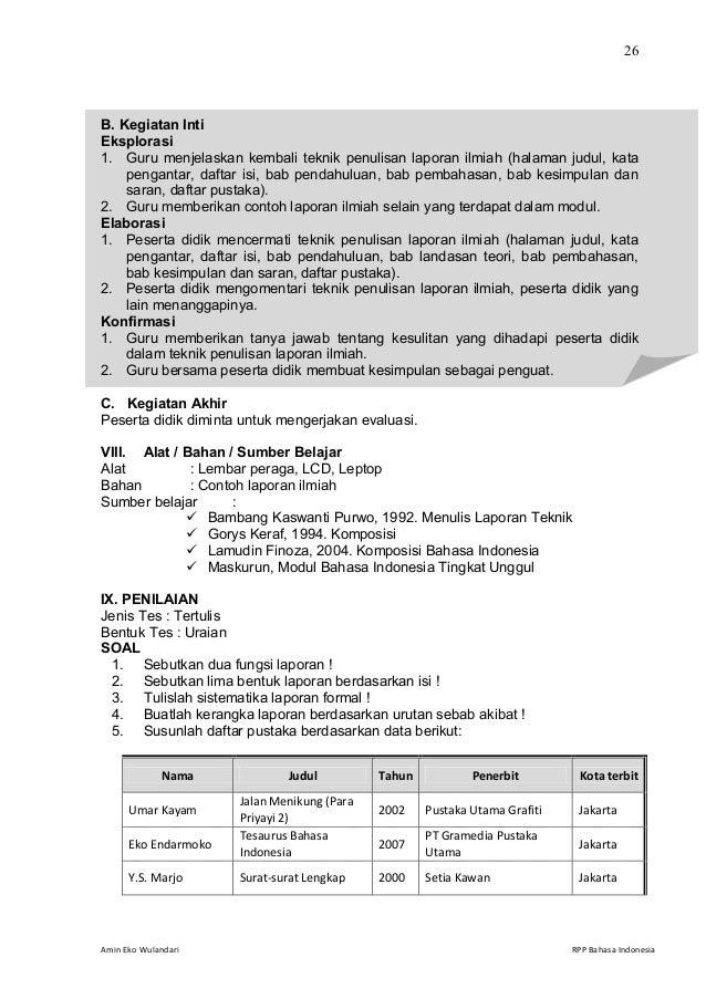 Rpp Bahasa Indonesia Smk Kelas Xii Semester 1 Rpp Bahasa Indonesia Rpp Bahasa Indonesia Kelas Xi