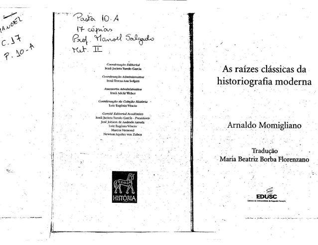 As Raízes Clássicas da Historiografia Moderna - Arnaldo Momigliano - Capítulo 2