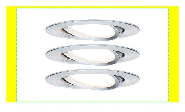 Paulmann Einbauleuchte LED Coin Slim IP44 rund 6,8W Alu 3er-Set