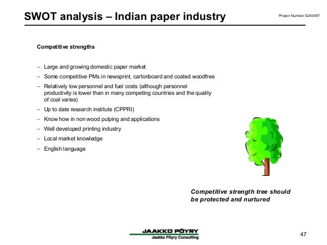swot analysis of paper pulp industry Pulp & paper five forces industry analysis mike bartusch dan hallquist susie dorsey cody schultz.