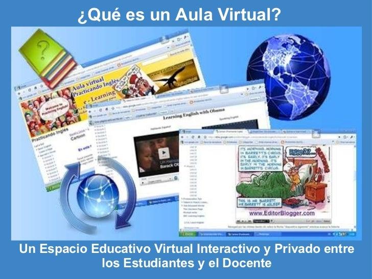 ¿Qué es un Aula Virtual? Un Espacio Educativo Virtual Interactivo y Privado entre los Estudiantes y el Docente
