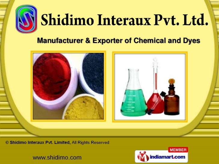 Manufacturer & Exporter of Chemical and Dyes