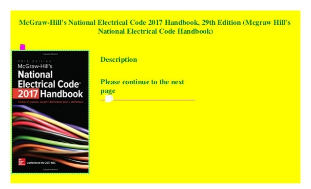 mcgraw hills national electrical code nec 2017 handbook 29th edition mcgraw hills national electrical code handbook
