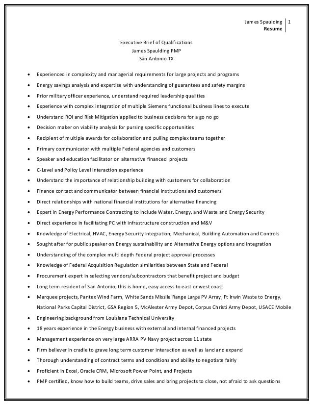 Director General Quals Resume - JSpaulding05182015