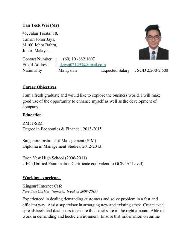 Tan Teck Wei (Mr) 45, Jalan Teratai 18, Taman Johor Jaya, 81100 Johor Bahru, Johor, Malaysia Contact Number : + (60) 10 -8...