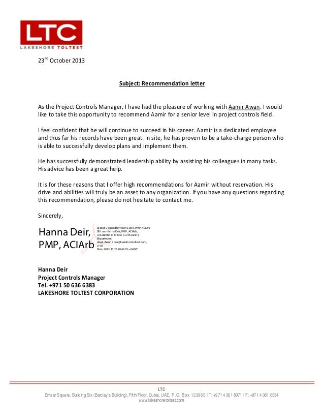 Ltc letter of recommendation selol ink ltc letter of recommendation altavistaventures Images