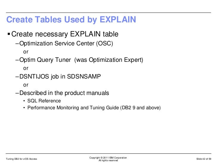 an intro to tuning your sql on db2 for z os rh slideshare net DB2 SQL Examples DB2 SQL Examples