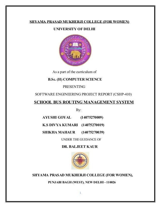 SCHOOL BUS ROUTING MANAGEMENT SYSTEM [FINAL]