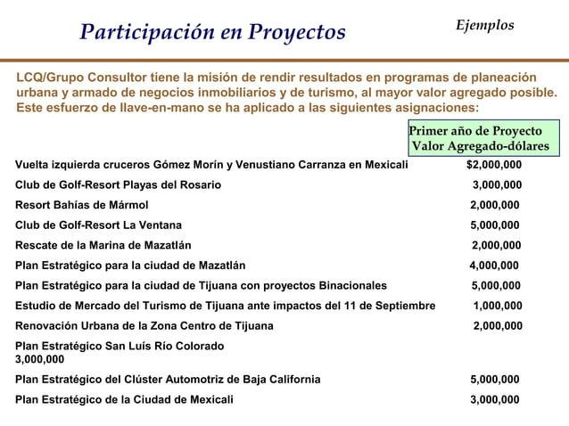 LCQ/Grupo Consultor tiene la misión de rendir resultados en programas de planeación urbana y armado de negocios inmobiliar...
