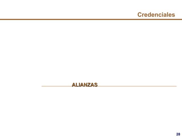 28 Credenciales ALIANZASALIANZAS