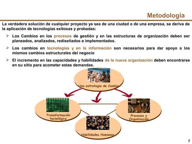 7 Transformación tecnológica Una estrategia de Cambio Procesos y Organización Habilidades Humanas Metodología La verdadera...