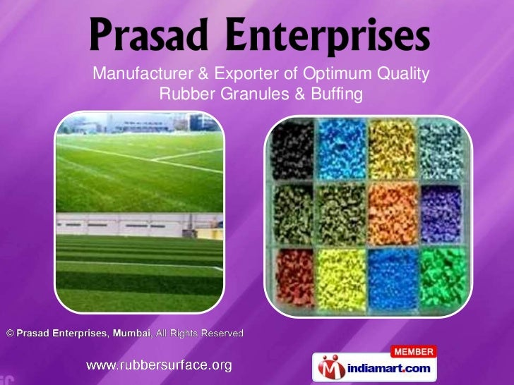 Manufacturer & Exporter of Optimum Quality       Rubber Granules & Buffing