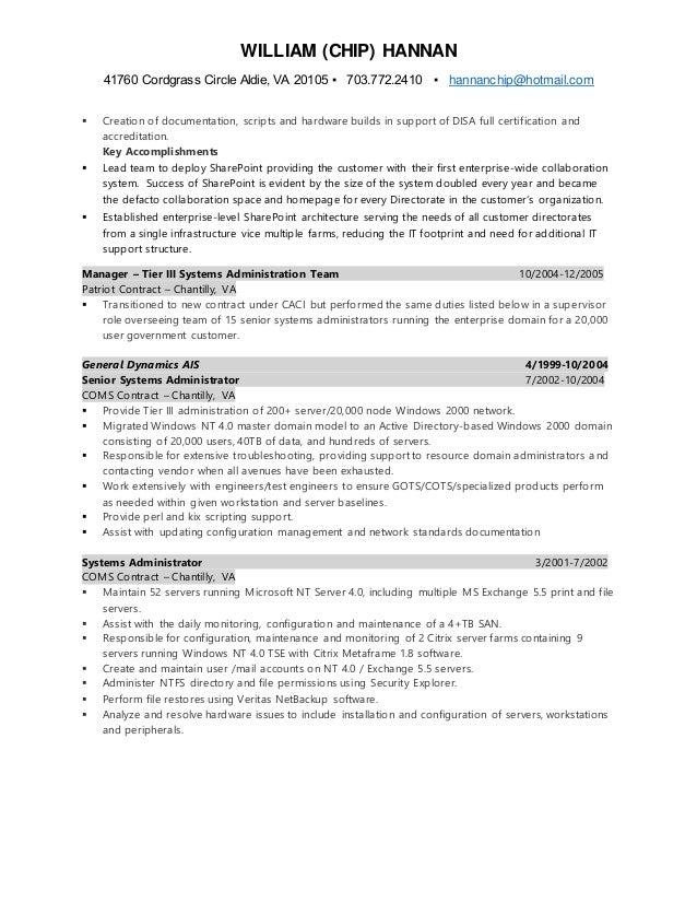 chip hannan resume 2016