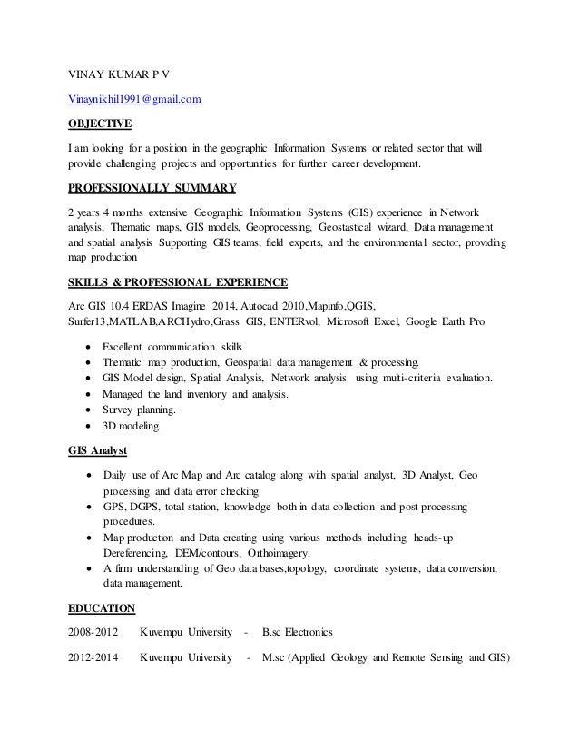gis resume