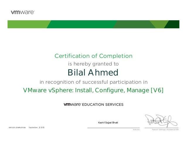 Vmware Vcp 60 Certificate