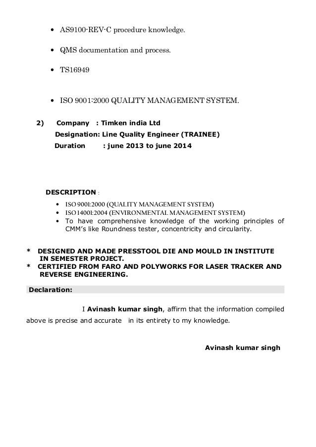 avinash TOOL ROOM resume