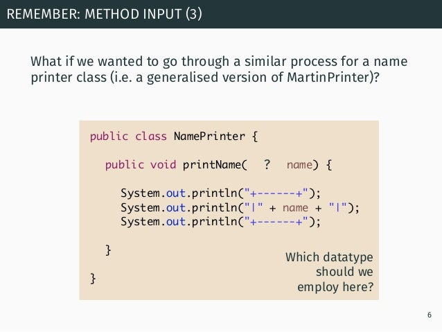 Programming in Java: Library Classes