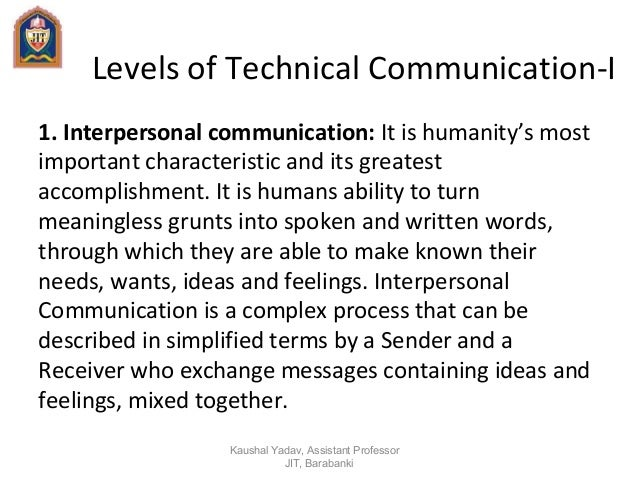 what makes interpersonal communication a complex process