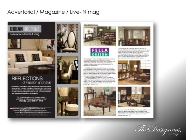 Advertorial / Magazine / Live-IN mag