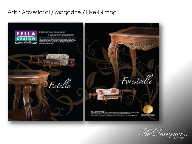 Ads : Advertorial / Magazine / Live-IN mag