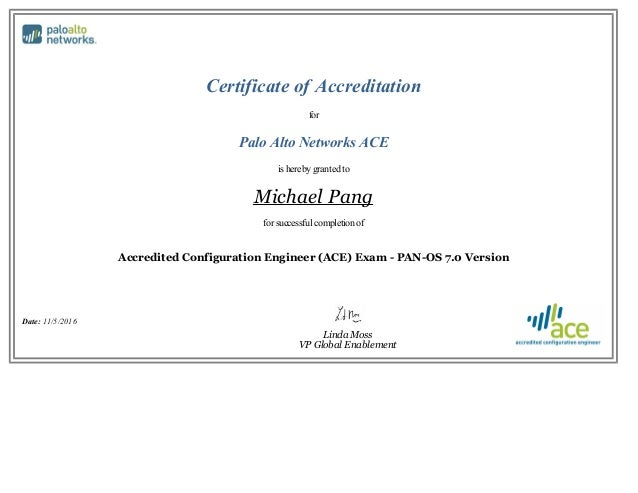 Palo Alto Networks Accredited Configuration Engineer Ace Pan Os