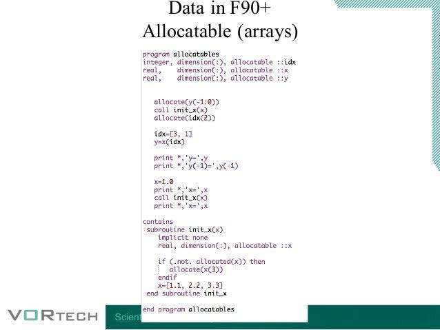 Introduction Modern Fortran Short