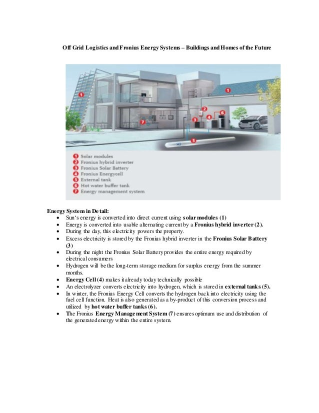 off grid logistics and fronius energy systems buildings and homes o