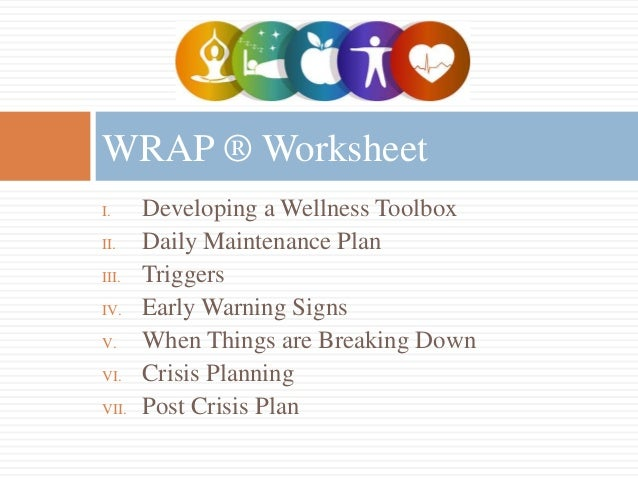 Wellness recovery action plan worksheets 6 i developing a knowing ...