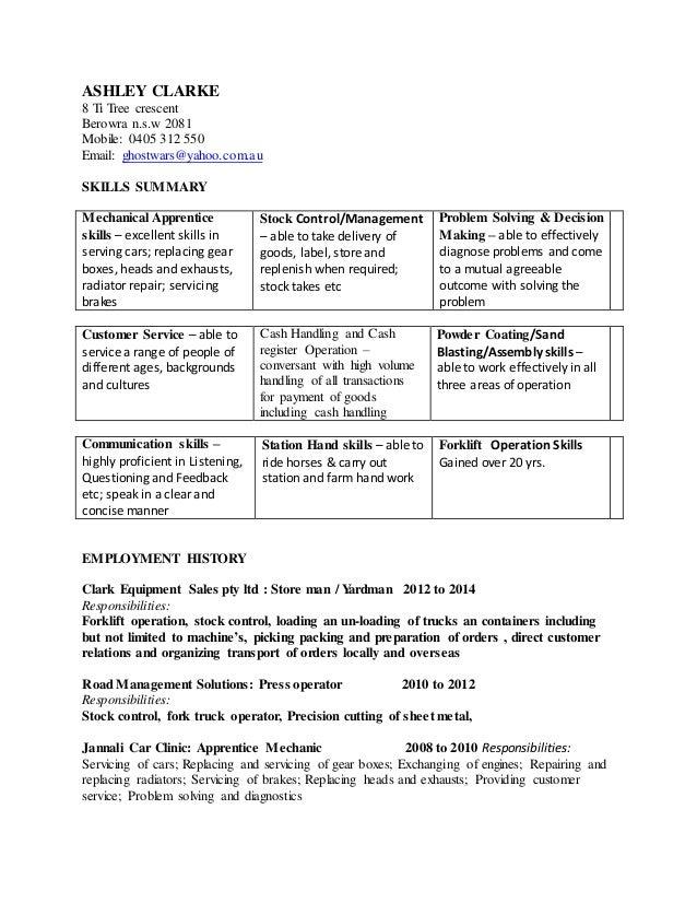 ASHLEY CLARKE resume No1