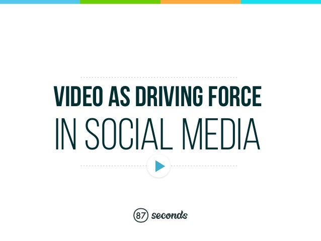 VIDEO AS DRIVING FORCE IN SOCIAL MEDIA