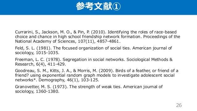 参考文献① Currarini, S., Jackson, M. O., & Pin, P. (2010). Identifying the roles of race-based choice and chance in high schoo...