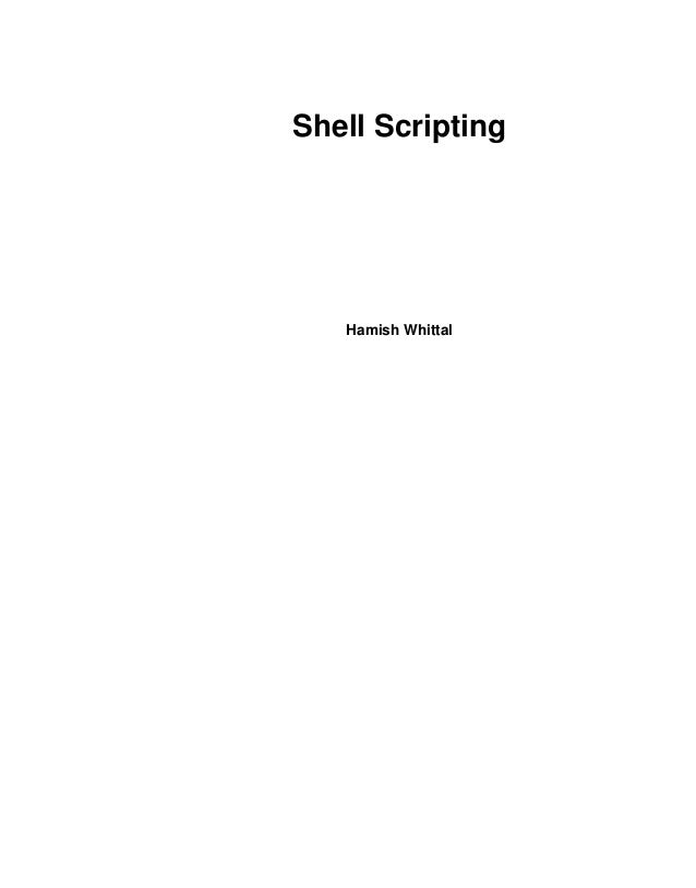 Shell Scripting   Hamish Whittal