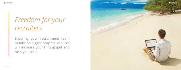 vsource.io | 54 | vsource.io In talent acquisition time is of the essence.