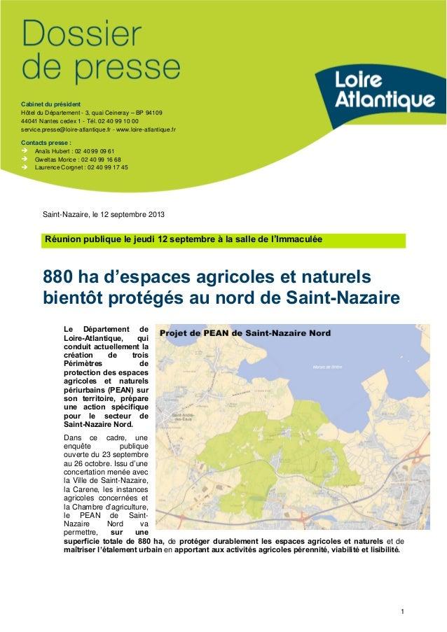 Cabinet du président Hôtel du Département - 3, quai Ceineray –BP 94109 44041 Nantes cedex 1 - Tél. 02 40 99 10 00 service....