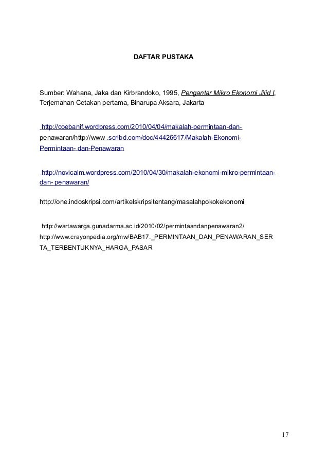 Contoh Daftar Pustaka Ekonomi Makro Wo Contoh