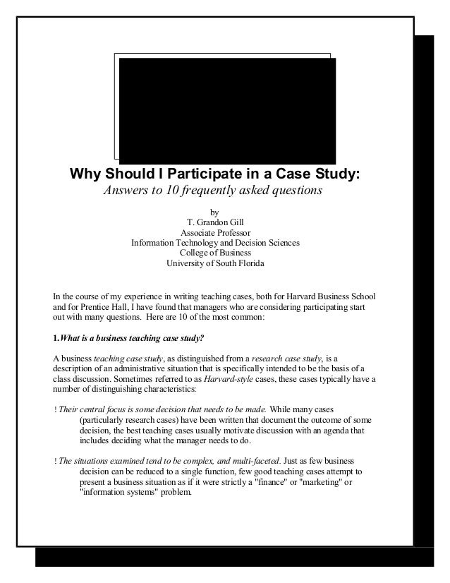answer for harvord ahp case study