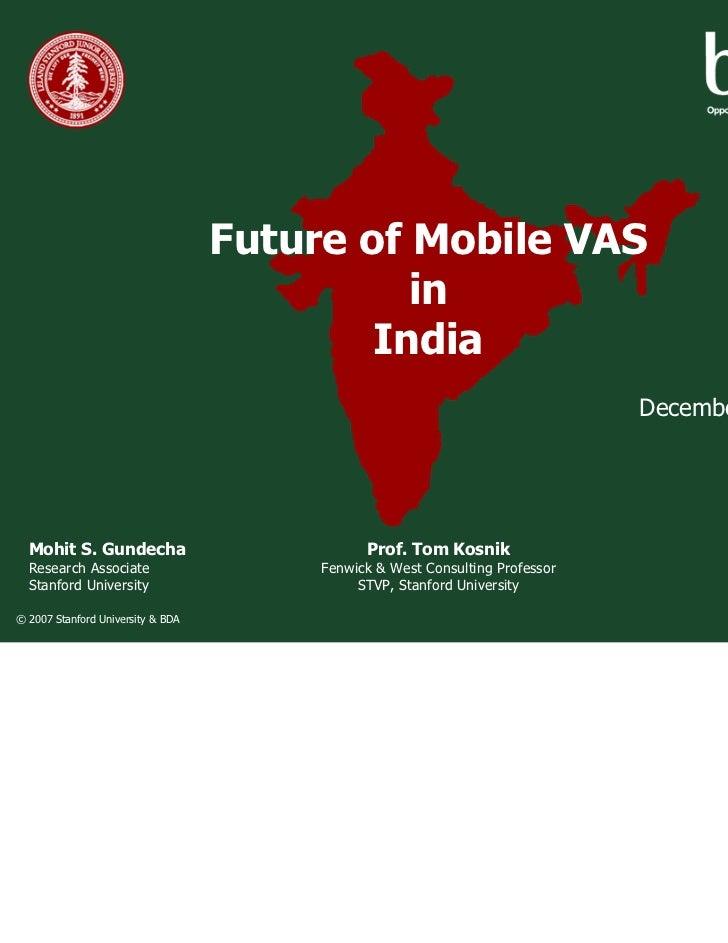 Future of Mobile VAS                                             in                                           India       ...