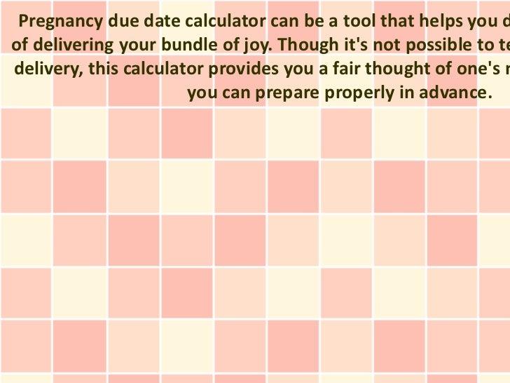 Pregnancy Due Date Calculator Tips & Guide