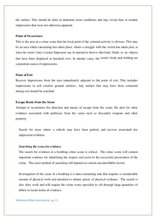 crime scene management compiled
