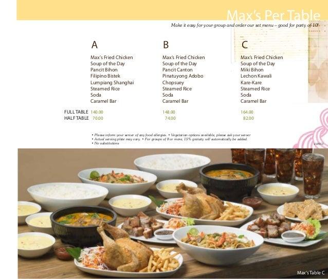Las vegas menu 090913 for Table 6 north canton menu
