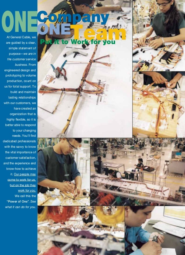 general cable wire harness and assembly brochure