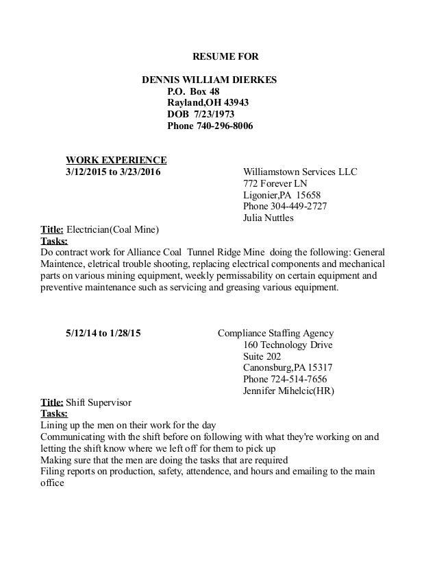 dennis resume