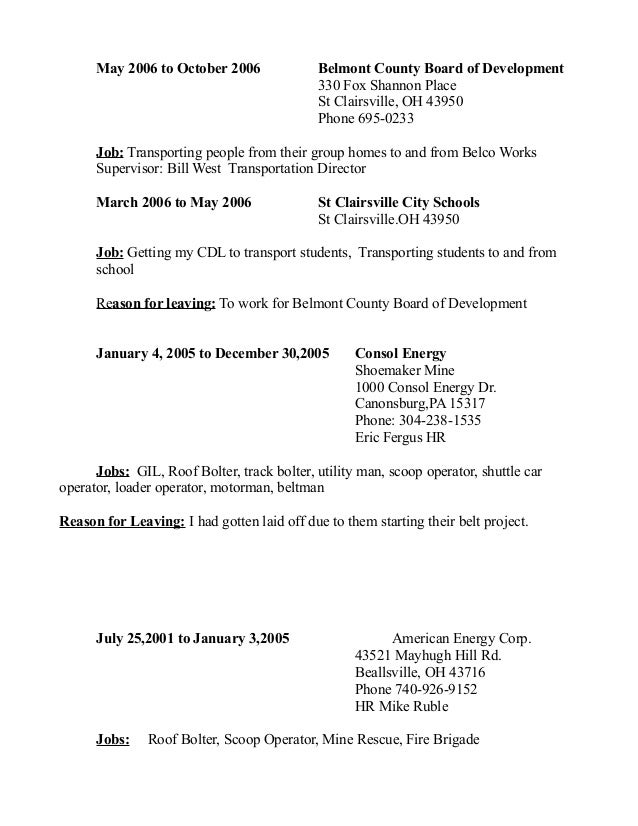 Amazing Resume At Consol Energy Center Motif - Administrative ...