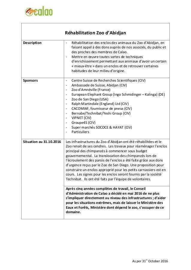 Réhabilitation Zoo d'Abidjan Description - Réhabilitation des enclos des animaux du Zoo d'Abidjan, en faisant appel à des ...