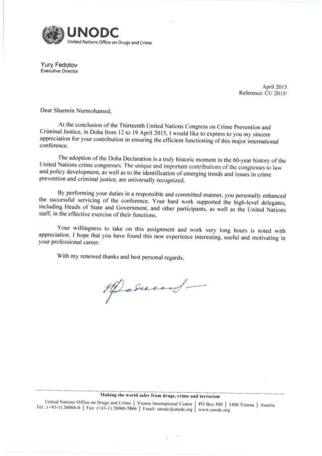 Appreciation letter un appreciation letter thecheapjerseys Gallery