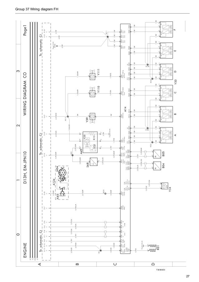 volvo alternator 14v 115a wiring diagram alternator