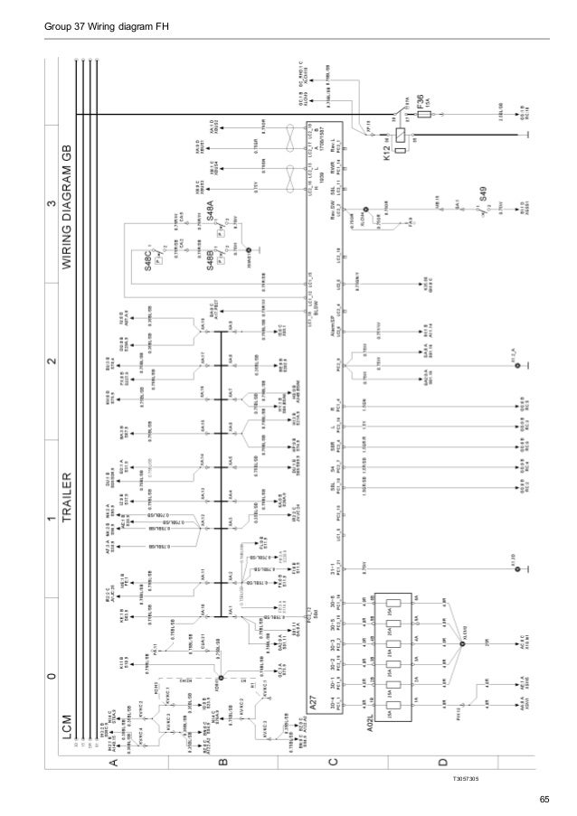 volvo wiring diagram fh Volvo Semi Truck Electrical group 37 wiring diagram fh t3057305 65