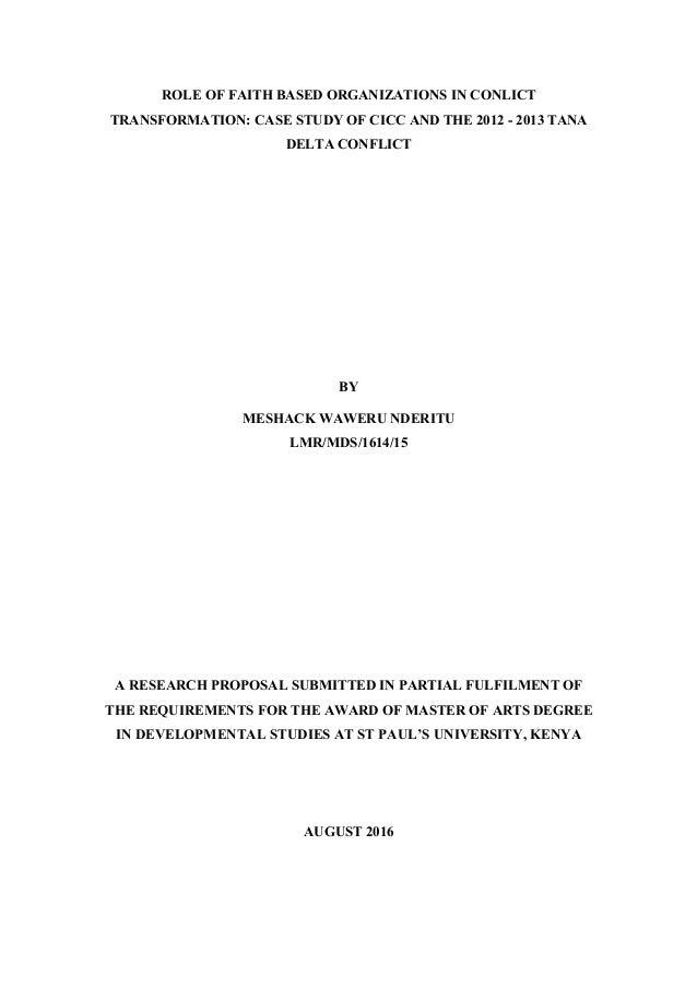 conflict transformation essay