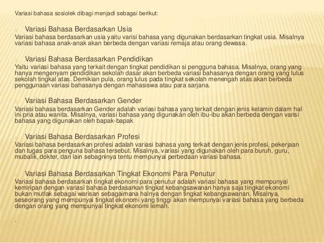 Ragam Bahasa Indonesia